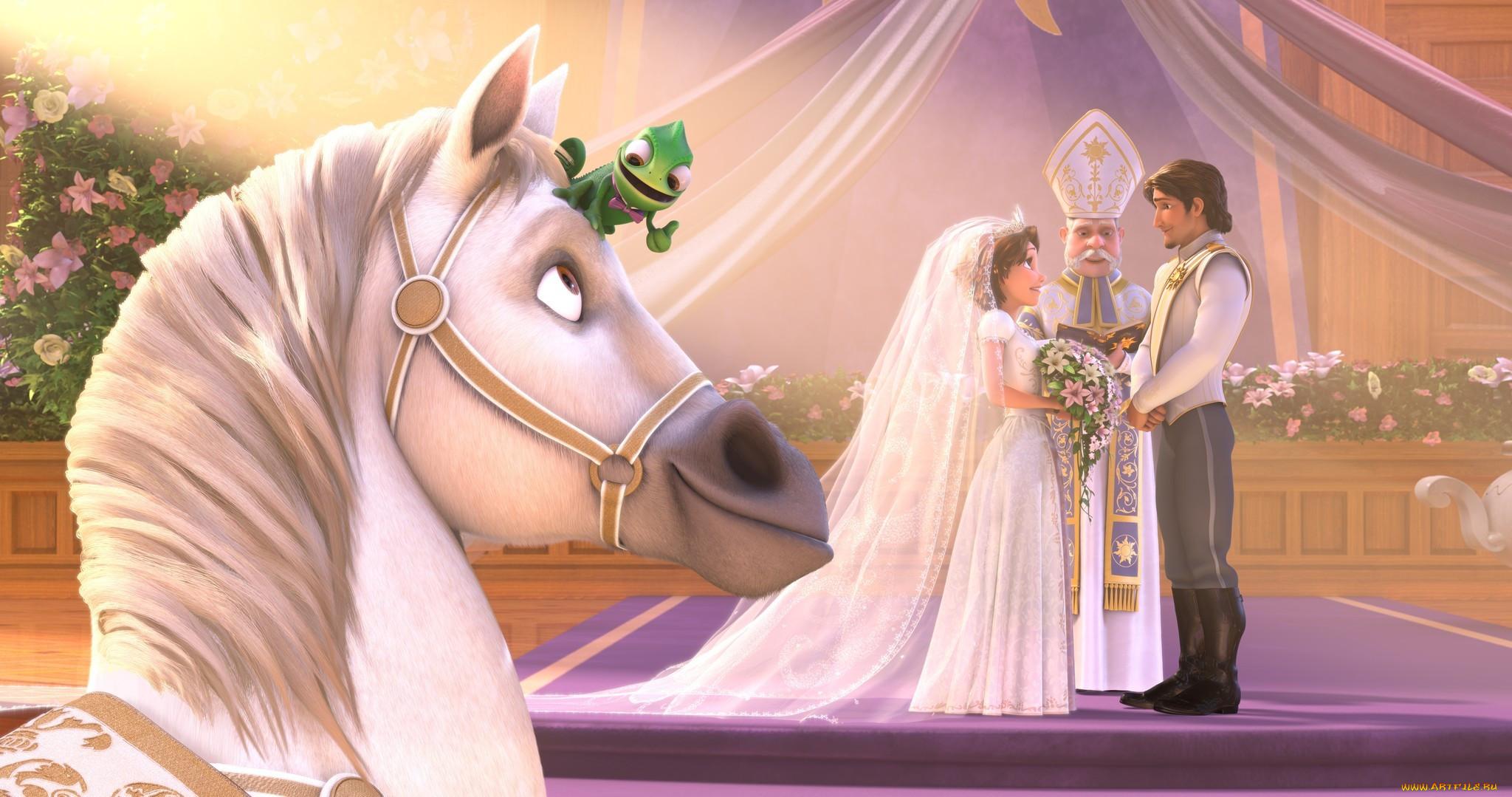 Картинка свадьба из мультика